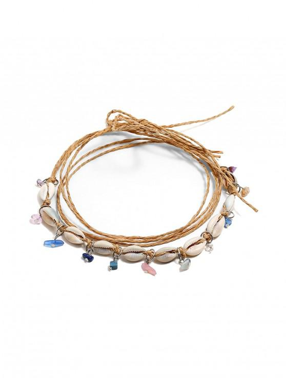 fashion Natural Shell Bohemia Style Necklace - MULTI-A