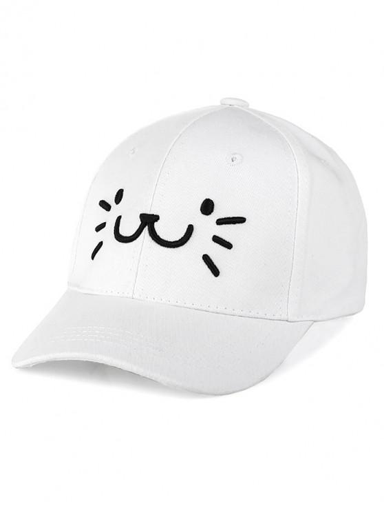 Chapeau de Baseball Dessin Animé Brodé - Blanc