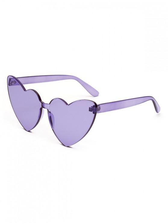 نظارة شمسية بتصميم قلب - أرجواني