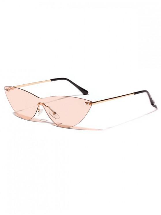 online Integral Catty Eye Rimless Sunglasses - ORANGE SALMON