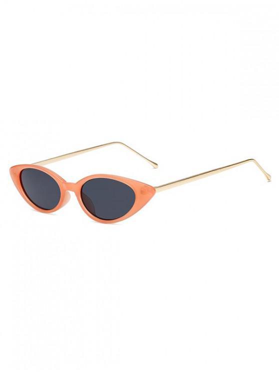 Catty Eye gafas de sol de metal vintage - Naranja