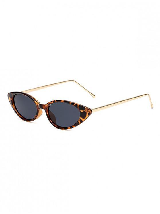 Catty Eye gafas de sol de metal vintage - Leopardo