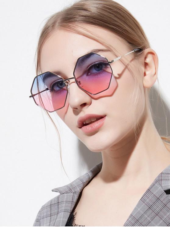shop Brief Irregular Metal Sunglasses - LIPSTICK PINK