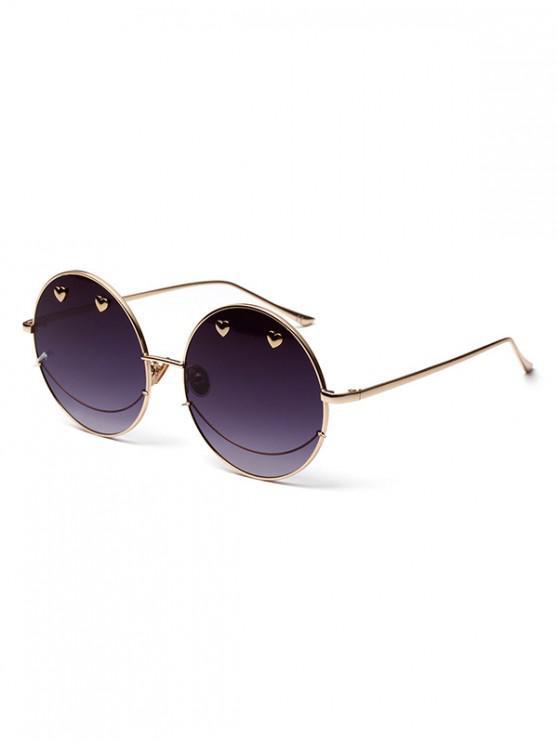 Gafas de sol redondas Ombre de metal de Small Heart - Gris
