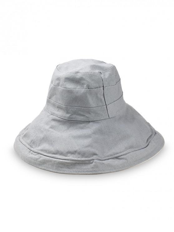 a521d331eef650 19% OFF] 2019 Double Face Wide Brim Bucket Hat In GRAY | ZAFUL