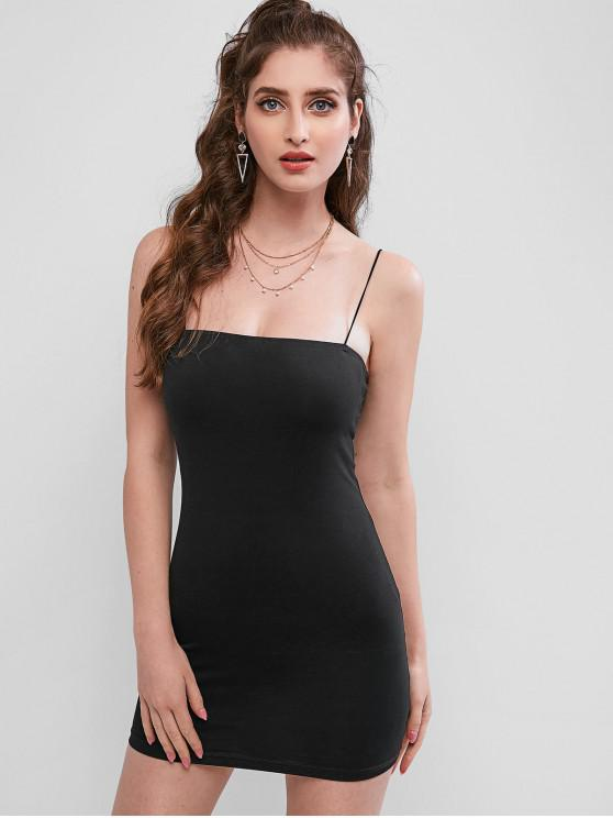 fancy Cami Mini Bodycon Dress - BLACK S