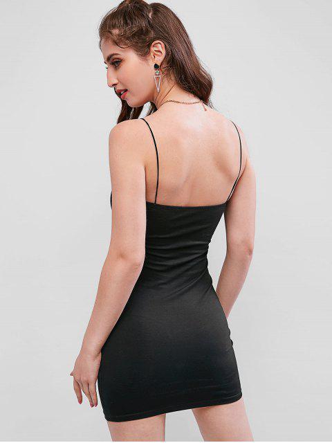 Mini Vestido Ajustado Cami - Negro M Mobile