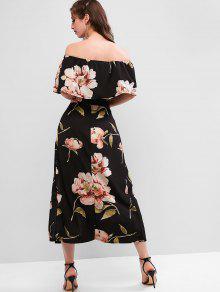 b9480023d Conjunto de top con estampado floral y falda larga