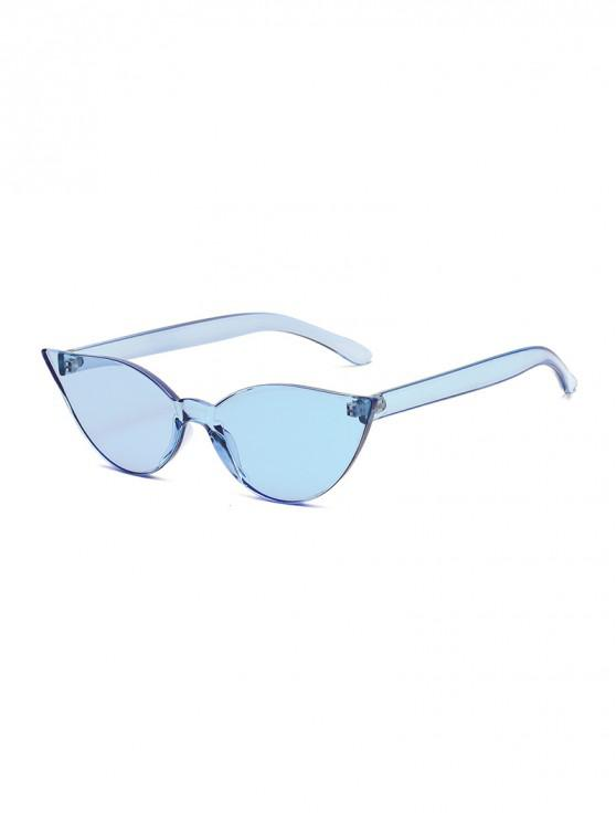 buy Candy Color Integral Rimless Sunglasses - LIGHT SKY BLUE