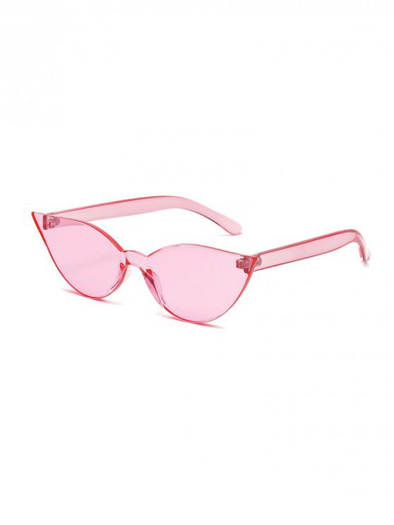 fashion Candy Color Integral Rimless Sunglasses - LIGHT PINK