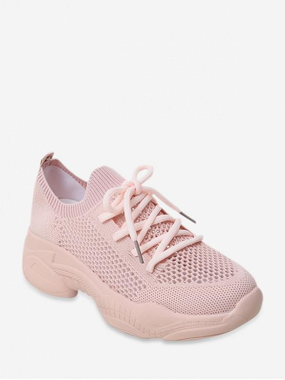 affordable Hollow Out Decoration Breathable Sneakers - PINK EU 40