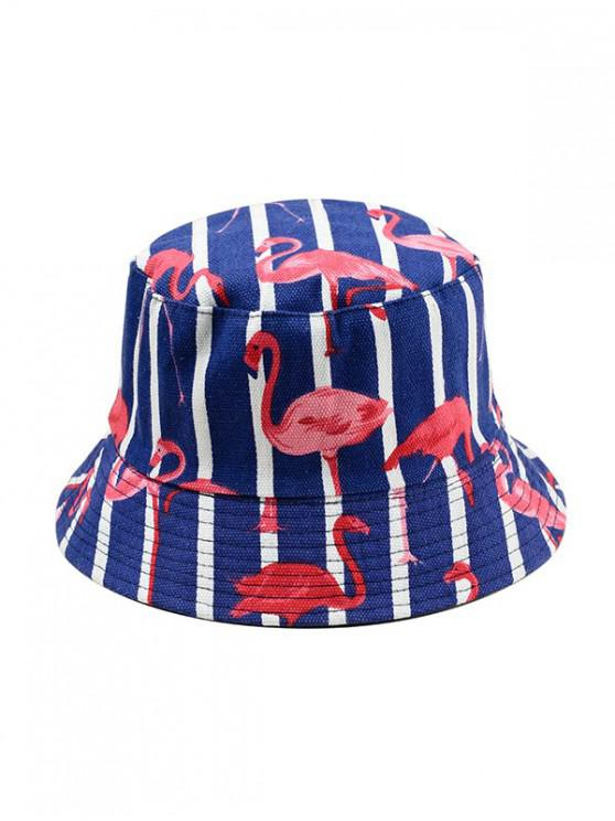 unique Animal Print Double-face Bucket Hat - BLUE