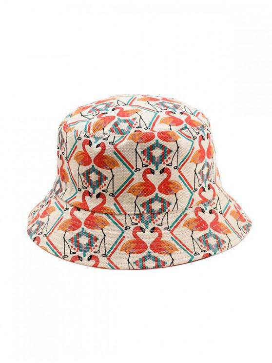 outfit Animal Print Double-face Bucket Hat - RED