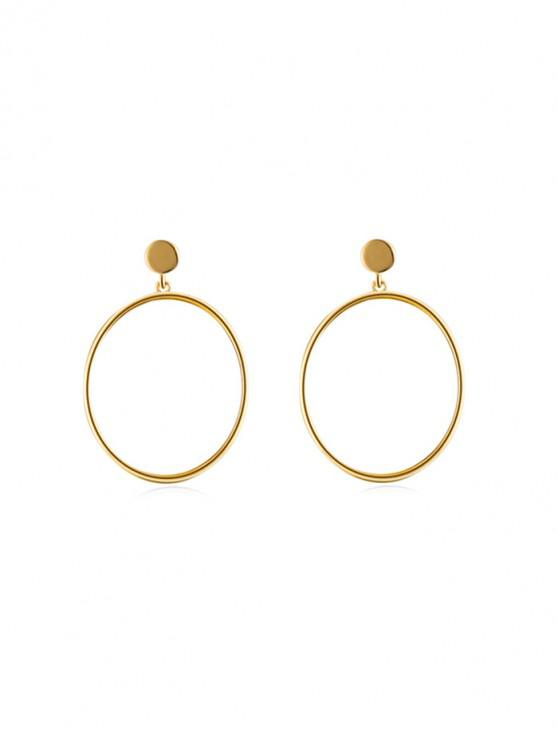 chic Brief Circle Stud Drop Earrings - GOLD