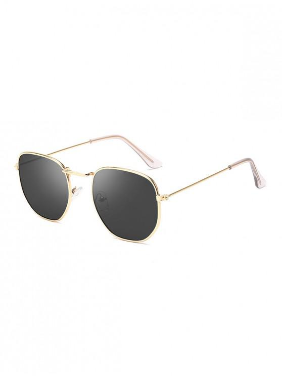 shop Vintage Metal Irregular Frame Sunglasses - BLACK