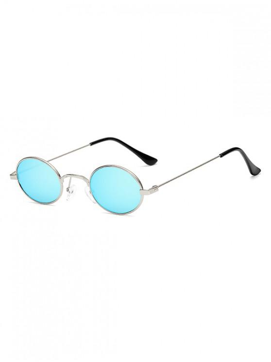 shops Vintage Metal Small Oval Sunglasses - CRYSTAL BLUE