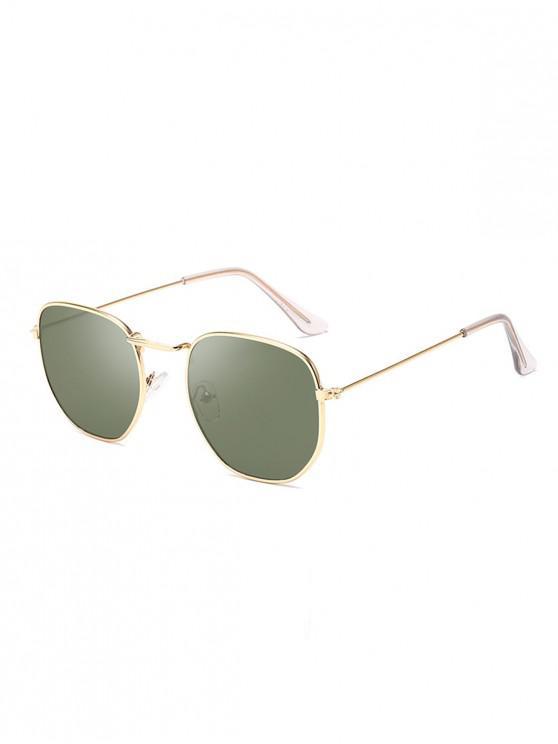 Gafas de sol con montura irregular de metal vintage - Verde Oscuro
