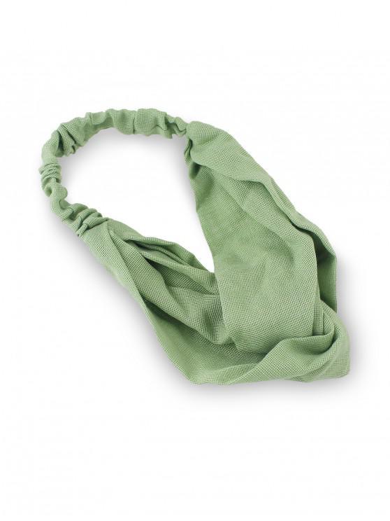 Diadema de algodón elástico sólido - Verde Oscuro de Mar
