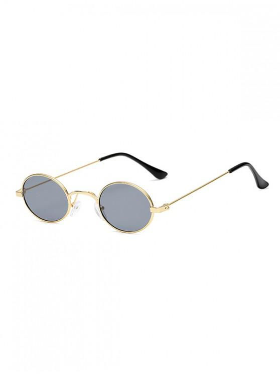 buy Vintage Metal Small Oval Sunglasses - GRAY