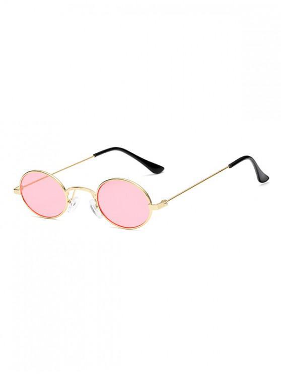 Gafas de sol ovaladas de metal vintage - Rosado