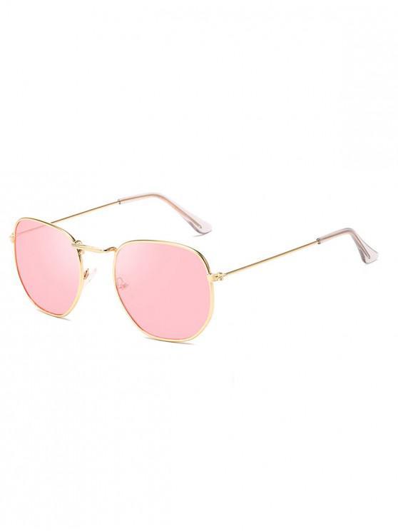 แว่นตากันแดดกรอบโลหะโบราณ Vintage - หมูสีชมพู