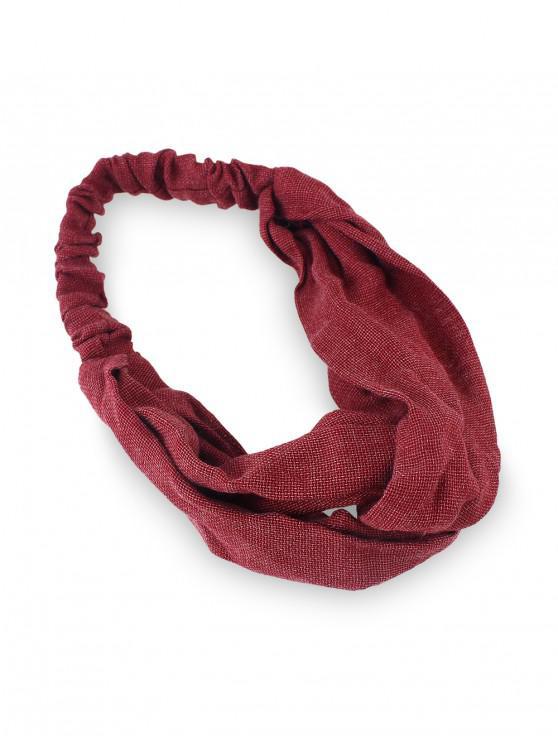 hot Solid Elastic Cotton Headband - RED WINE