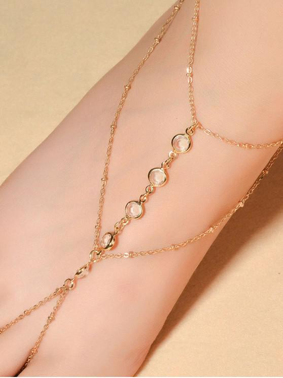 affordable Toe Ring Sexy Beach Chain Anklet - GOLD