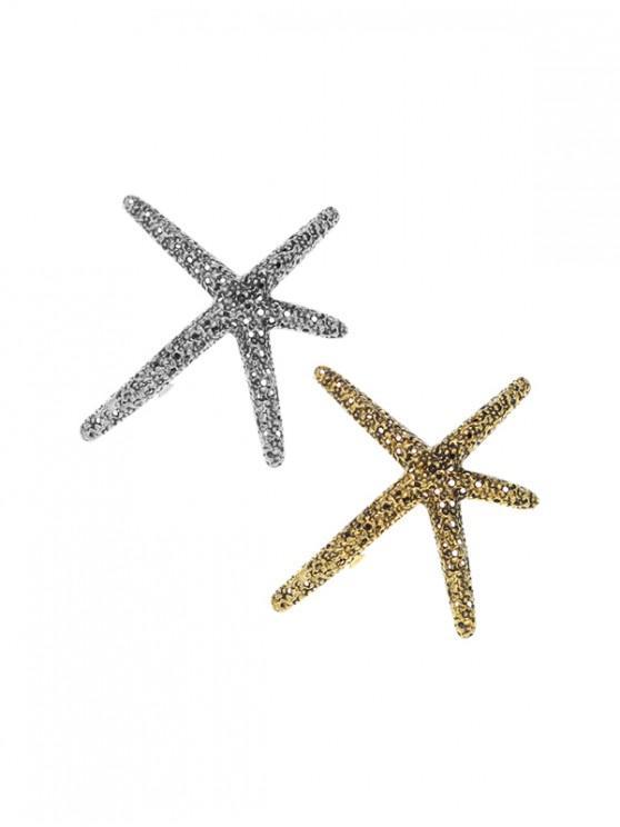 2 piezas de forma de estrella de mar que relucen las empuñaduras - Multicolor-A
