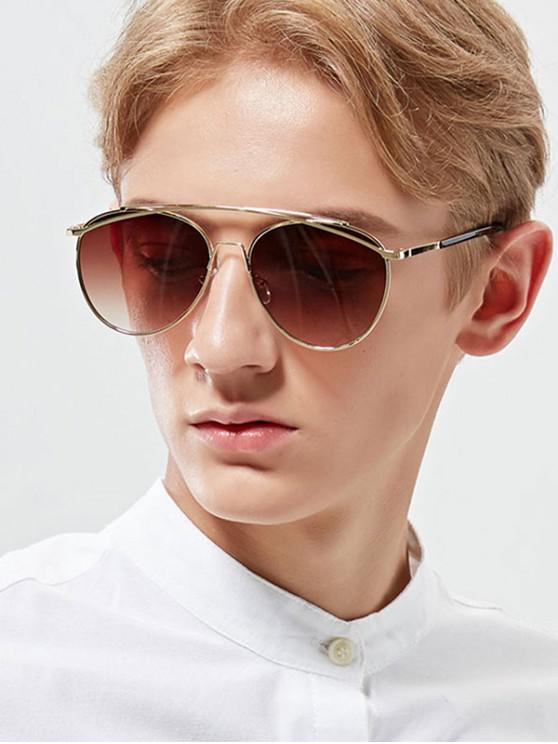 Gafas de sol estilo metal arc bar - Marrón Roble