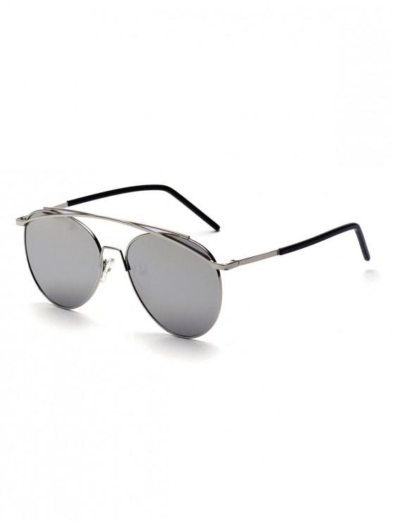 fashion Metal Arc Bar Pilot Sunglasses - DARK GRAY