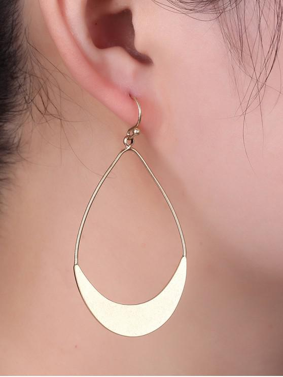unique Hollow Water Drop Brief Earrings - GOLD