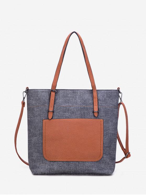 best Pocket Single Shoulder Tote Bag - BLACK