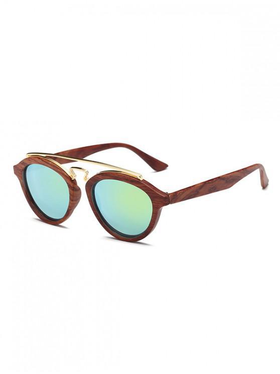 best Vintage Stylish Round Sunglasses - BROWN
