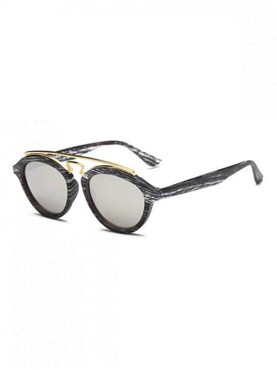 outfit Vintage Stylish Round Sunglasses - CARBON GRAY