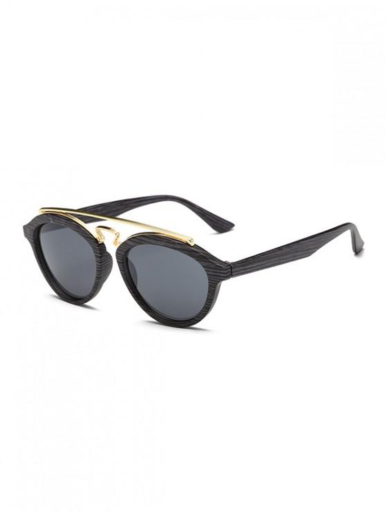unique Vintage Stylish Round Sunglasses - BLACK