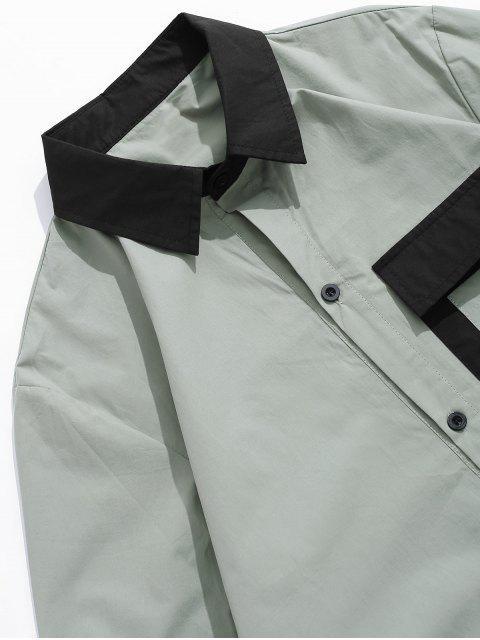 Chemise à manches longues - Vert Tortue de Mer L Mobile