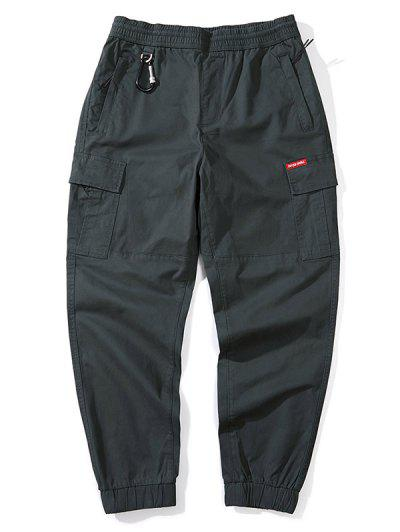 d51bf2015e Letter Print Solid Color Cargo Jogger Pants - Dark Gray Xs ...