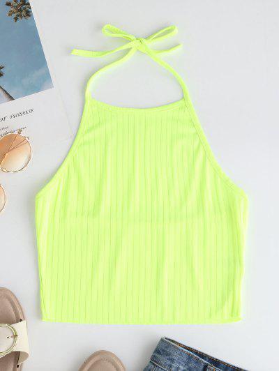 Open Back Halter Knit Crop Top