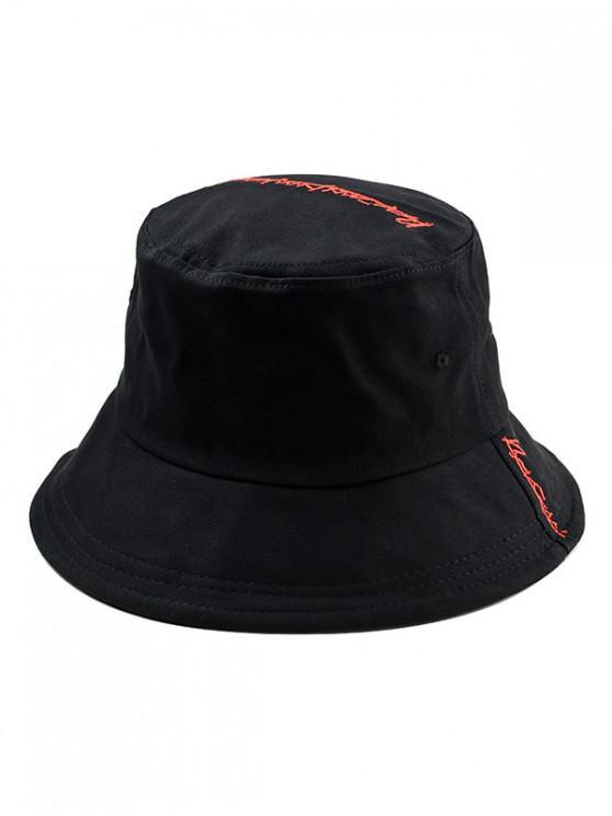 online Cotton Character Design Bucket Hat - BLACK