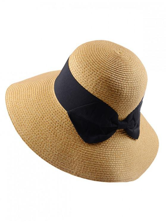 Sombrero de paja de fiesta de bowknot - Negro Regular