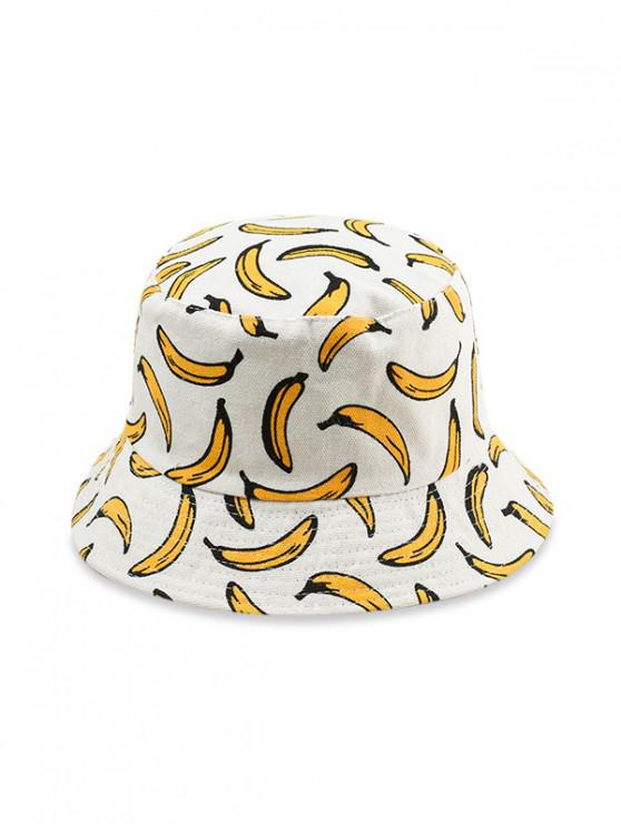 outfits Cotton Fruit Print Bucket Hat - YELLOW