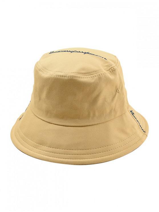 latest Cotton Character Design Bucket Hat - LIGHT KHAKI