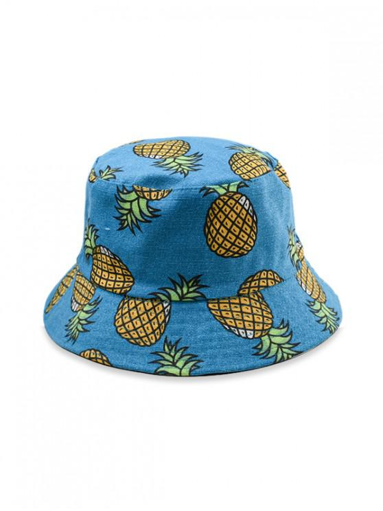 fashion Cotton Fruit Print Bucket Hat - BLUE