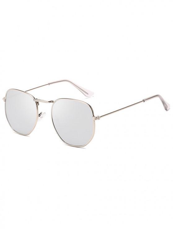 unique Metal Retro Frame Sunglasses - PLATINUM