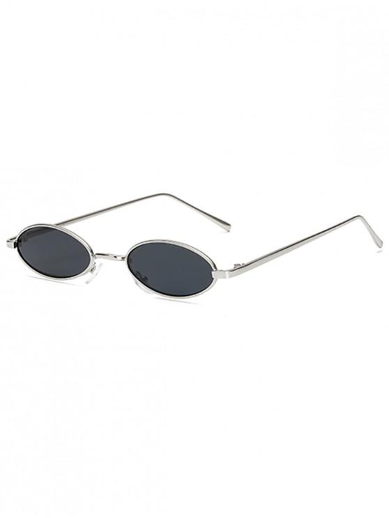 women's Vintage Small Oval Metal Sunglasses - PLATINUM
