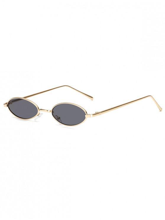 Gafas de Sol Marco Metálico Ovalado Pequeño Vintage - Oro