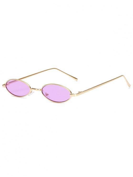 women's Vintage Small Oval Metal Sunglasses - PURPLE