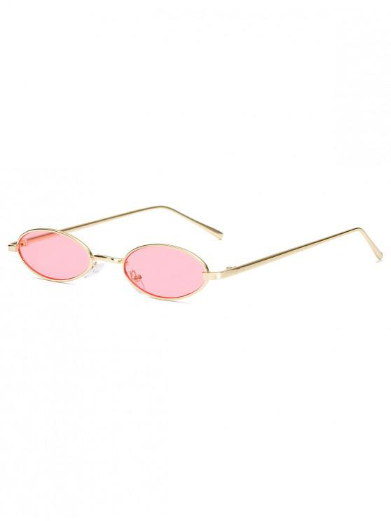 latest Vintage Small Oval Metal Sunglasses - PINK