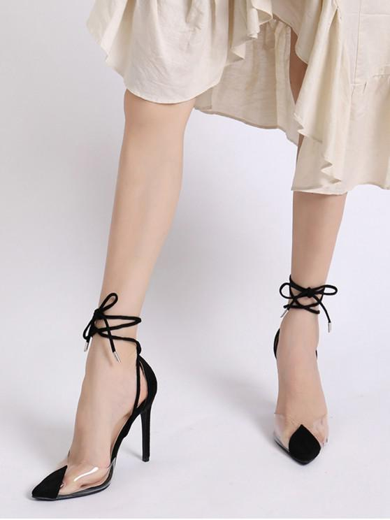 d1ffb45d69 32% OFF] [NEW] 2019 Transparent Toe Ankle Wrap High Heel Pumps In ...