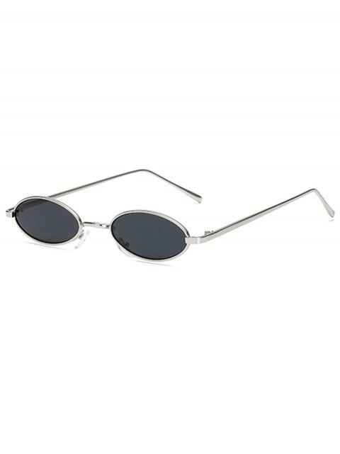 women's Vintage Small Oval Metal Sunglasses - PLATINUM  Mobile